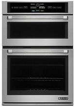 Jenn Air JMW3430DP 6 4 cu ft  Stainless Steel Electric Wall Oven with Microwave