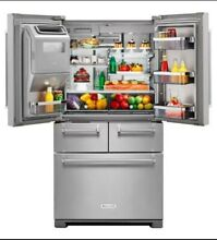KitchenAid  KRMF706ESS 25 8 Cu  Ft  French Door Refrigerator   Stainless Steel