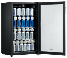 BEVERAGE BEER SODA COOLER MINI FRIDGE 115 Can Stainless Steel Black