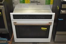 GE CTS90DP4MW2 30  Matte White Single Electric Wall Oven NOB  89234 HRT