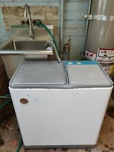 Vintage 1967 Hoover Electric Washing Machine Hoovermatic Twin Tub Washer