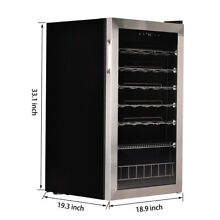 SMAD 28 Bottle Wine Fridge Beverage Cooler Wine Refrigerator Stainless Steel