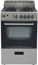 Avanti 24 Inch Electric Range with Storage Drawer  Digital Clock and Timer
