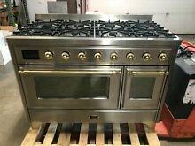 2019 ILVE Majestic II 48  NG Dual Fuel Range 8 Sealed Burner Stainless UM12FDNS3