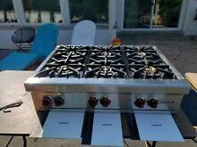 Wolf Gas Stainless Cooktop And Hood