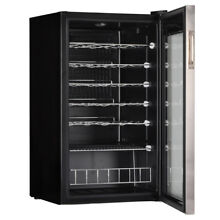 SMAD Wine Fridge 33 Bottle Undercounter Beverage Cellar Cooler Wine Chiller