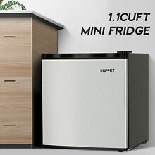 1 1 Cu Ft Compact Mini Freezer Refrigerator Stainless Steel Office Dorm Room