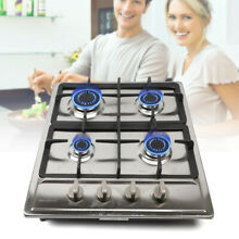 Gas Cooktop Stove Built in 4 5 Burners NG  LPG Gas Cook 23 34  Stainless Steel