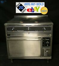 Commercial 36  Electric Hot Top Stove Range W  Convection Oven