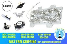 Dryer Heating Element Thermostat Repair Kit for Samsung DC47 00019A Thermal Fuse