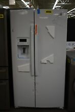 GE GSS25GGHWW 36  White Side By Side Refrigerator NOB  102649