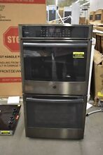 GE PK7500BLTS 27  Black Stainless Double Wall Oven NOB  103063