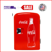 New Classic Coca Cola 4 Liter 6 Can Portable Fridge Mini Cooler w  AC   DC Plugs