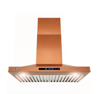 AKDY 30 in  Convertible Wall Mount Copper Stainless Steel Kitchen Range Hood