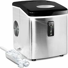 SMAD Countertop Stainless Steel Ice Maker Compact Ice Cube Machine 33lbs day