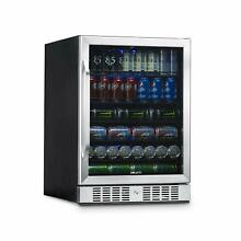 NewAir ABR 1770 24  Built in 177 Can Beverage Fridge in Stainless Steel