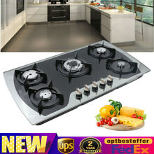 35 4  Cooktop Gas Stove Built in 5 Burner Tempered Glass Gas Cooking Hob LPG NG