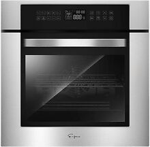 Empava 24  Electric Single Wall Oven 10 Cooking Functions Deluxe 360