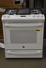 GE JGS760DELWW 30  White Slide In Gas Range NOB  105340
