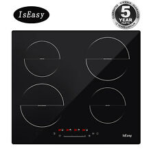 IsEasy 23  Built in Induction Cooker 220v 4Burner Electric Cooktop Touch Control