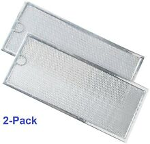 2 Pack OEM Kitchenaid KHMS2040WSS0 Aluminum Mesh Microwave Oven Grease Filter