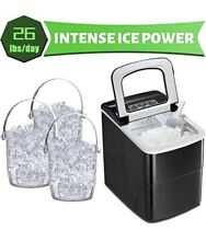 AGLUCKY Ice Maker Machine for Countertop Portable Ice Cube Makers Make 26 lbs
