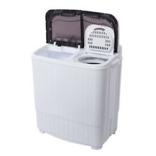 White Compact Portable Washer   Dryer with Mini Washing Machine and Spin Dryer