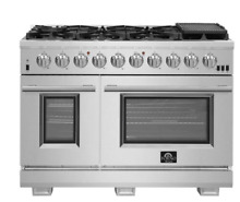 Forno FFSGS618748 48 Inch Freestanding Dual Fuel Range with Natural Gas  8 Seale