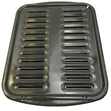 Enamel Oven Broiler Pan Rack Gray White speckled 16  x 13  2 pieces