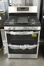 GE JGBS86SPSS 30  Stainless Double Oven Gas Range NOB  112877