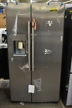 GE Cafe CZS22MP2NS1 36  Stainless CD Side By Side Refrigerator NOB  113040