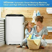 26lbs 2 IN 1 Automatic Washing Machine Portable Laundry Washer and Dryer Large
