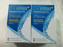 IcePure Refrigerator Water Filter WS613B   RWF0600A for Kenmore  GE   Pack of 2