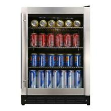 Magic Chef Beverage Refrigerator 110 Volt Built In Free Standing Stainless