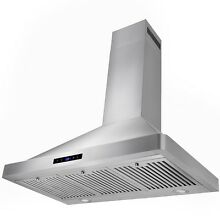 36  Modern Wall Mount Stainless Steel Kitchen Touch Control Range Hood w  LED