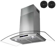 30  Stainless Steel Wall Mount Range Hood with Touch Control and Carbon Filters
