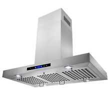 36  Island Mount Stainless Steel Kitchen Range Hood Stove Vent w  Touch Control