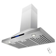 36  Wall Mount Stainless Steel Kitchen Range Hood Vent Fan Touch Control