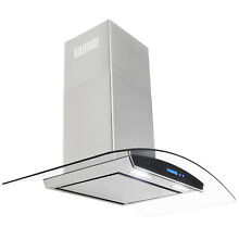 Euro 30  Kitchen Wall Mount Stainless Steel Range Hood Ventless Low Noise Panel