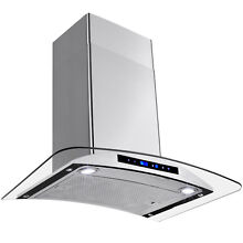 30  Kitchen Wall Mount Stainless Steel Range Hood Ventless