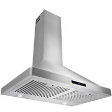Europe 30  Kitchen Wall Mount Stainless Steel Range Hood  LED Display Control
