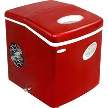 28 Lb  Red Tabletop Portable Ice Machine  Compact Electric Counter Cube IceMaker