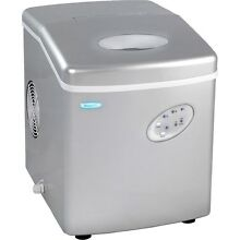 Silver Portable 28 Lb  Ice Machine  Compact Electric Counter Top IceCube Maker