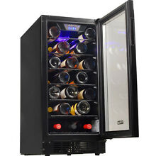 Compact 30 Bottle Built In Wine Cooler  Undercounter Mini Refrigerator Chiller