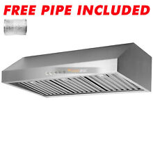 500CFM 30  Range Hood Under Cabinet Stainless Steel Filter Electronic Switch