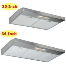 SUPER Multi Size 30 36 Under Cabinet Stainless Steel Range Hood Baffled 600CFM