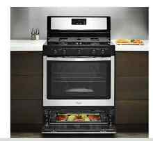 Gas Stove Range 5 1 Cu Ft Oven Kitchen Chef Broiler Griddle Even Heat Cook Temp