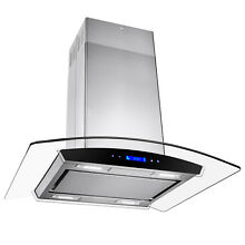 30  Island Mount Range Hood Stainless Steel Touch Screen Cooking Fan