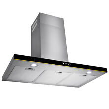 36   Stainless Steel Wall Mount Range Hood Touch Screen Control Ductless