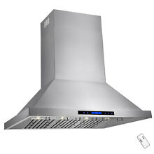 42  Stainless Steel Touch Screen Display Baffle Wall Mount  Range Hood